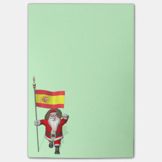 Santa Claus With Ensign Of Spain Post-it Notes