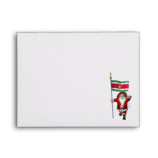 Santa Claus With Ensign Of Suriname Envelope