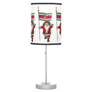 Santa Claus With Ensign Of Suriname Lamp