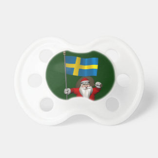 Santa Claus With Ensign Of Sweden Pacifier