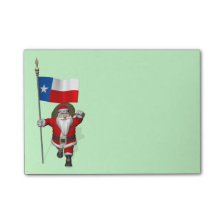 Santa Claus With Ensign Of Texas Post-it Notes