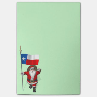 Santa Claus With Ensign Of Texas Post-it® Notes