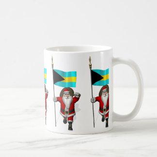 Santa Claus With Ensign Of The Bahamas Coffee Mug