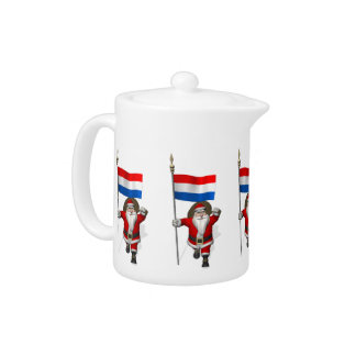 Santa Claus With Ensign Of The Netherlands Teapot