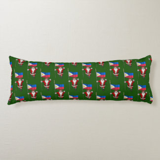 Santa Claus With Ensign Of The Philippines Body Pillow