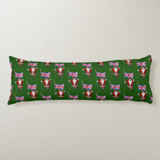 Santa Claus With Ensign Of The UK Body Pillow
