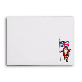 Santa Claus With Ensign Of The UK Envelope