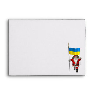 Santa Claus With Ensign Of The Ukraine Envelope