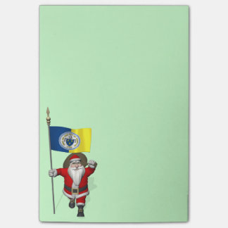 Santa Claus With Ensign Of Trenton NJ Post-it® Notes