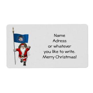 Santa Claus With Ensign Of Utah Label