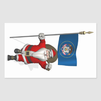 Santa Claus With Ensign Of Utah Sticker