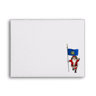 Santa Claus With Ensign Of Vermont Envelopes
