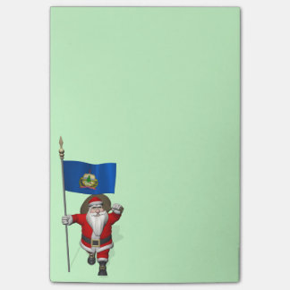 Santa Claus With Ensign Of Vermont Post-it® Notes