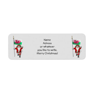 Santa Claus With Ensign Of Wales Label