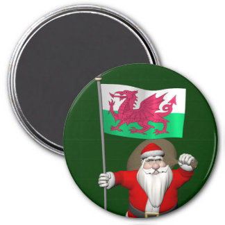 Santa Claus With Ensign Of Wales Magnet