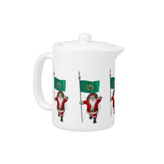 Santa Claus With Ensign Of  Washington Teapot