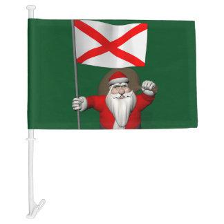 Santa Claus With Flag Of Alabama