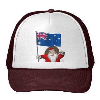 Santa Claus With Flag Of Australia Trucker Hat