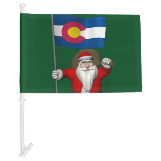 Santa Claus With Flag Of Colorado