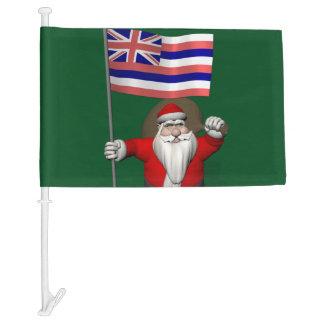 Santa Claus With Flag Of Hawaii