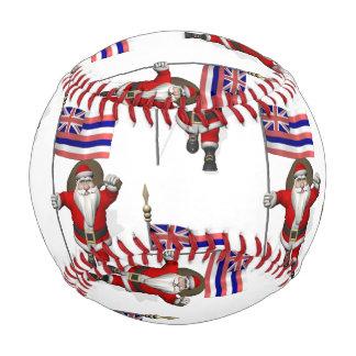 Santa Claus With Flag Of Hawaii Baseball