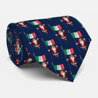 Santa Claus With Flag Of Italy Tie