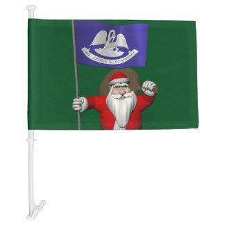 Santa Claus With Flag Of  Louisiana