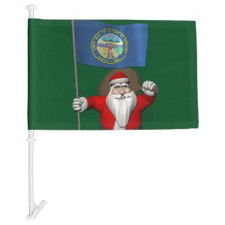 Santa Claus With Flag Of Nebraska