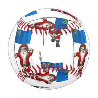 Santa Claus With Flag Of Nevada Baseball