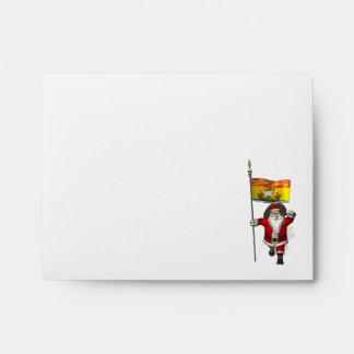 Santa Claus With Flag Of New Brunswick CDN Envelopes