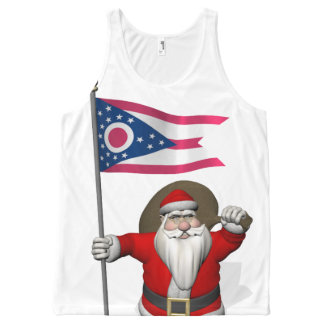 Santa Claus With Flag Of Ohio All-Over Print Tank Top