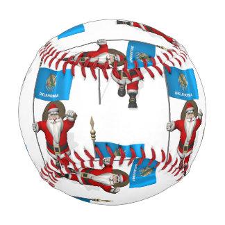 Santa Claus With Flag Of Oklahoma Baseball