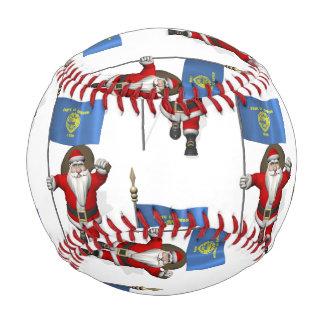 Santa Claus With Flag Of Oregon Baseball