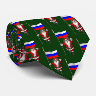 Santa Claus With Flag Of Russian Federation Tie