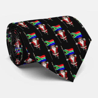 Santa Claus With Flag Of South Africa Tie