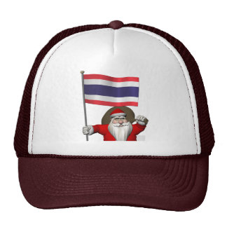 Santa Claus With Flag Of Thailand Hats