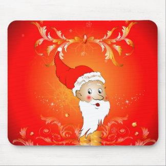 Santa Claus with floral elements Mousepads