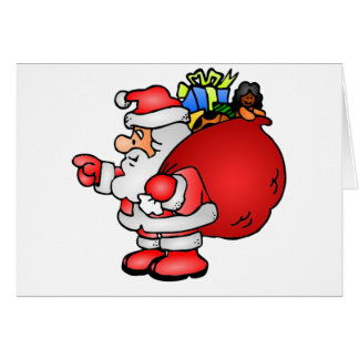 Santa Claus With Gifts Card