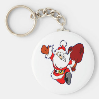 Santa Claus With Gifts Keychain