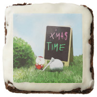 Santa Claus with golf ball Christmas time Brownie