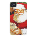 SANTA CLAUS WITH HIS LIST iPhone 4 COVERS