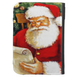SANTA CLAUS WITH HIS LIST KINDLE KEYBOARD CASE