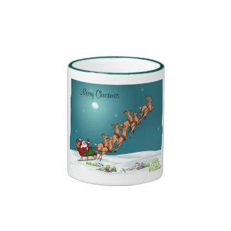 Santa Claus with His Reindeer Mug