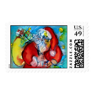 SANTA CLAUS  WITH LANTERN IN THE CHRISTMAS NIGHT POSTAGE