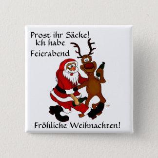 Santa Claus with moose Button
