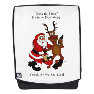 2d24b85cda Santa Claus with moose - frohes Fest Backpack