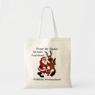 Santa Claus with moose Tote Bag