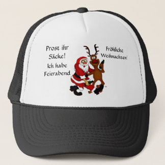 Santa Claus with moose Trucker Hat