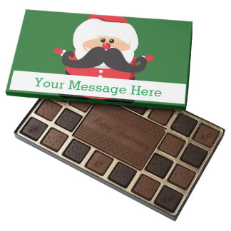 Santa Claus with Mustache Assorted Chocolates