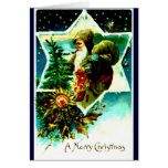 Santa Claus with Pack Greeting Card